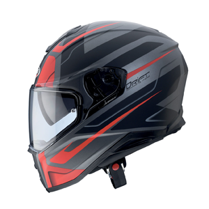 casque intégral drift shadow anthracite rosso